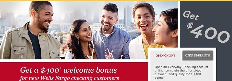 Wells Fargo Bonuses September 2019: $200, $300, $400, $500
