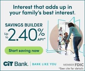 CIT Bank Savings Builder Account