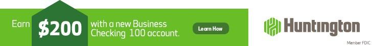 Huntington Business Checking 100 account