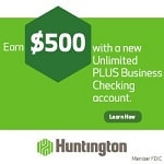 Huntington Unlimited Plus Business account