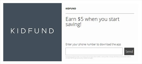 Kidfund (Social Savings App For Children) Promotions: $5 Sign-Up Bonus And $5 Referral Offer