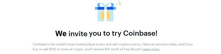 Coinbase (Bitcoin Wallet) Promotions: $10 Sign-Up Bonus And Unlimited $10 Referrals