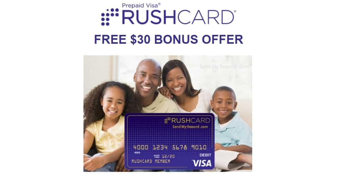 RushCard Prepaid Visa $30 And $50 Sign-Up Bonuses
