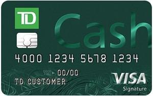 TD Cash Credit Card Bonus